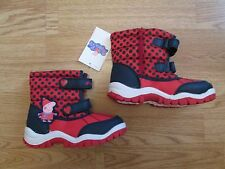 girls peppa pig red and blue snow winter boots -BNWT - Marks & Spencer -size 11