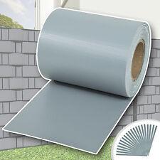 Rollo aislamiento aislante PVC 70m x 19cm jardín para vallas banda gris NUEVO