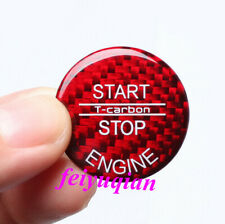 1x Red Carbon fiber Engine Start Stop Button cover For LEXUS IS250 350 2006-2013