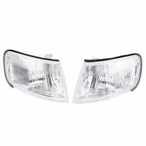 Pair Corner Marker Turn Light Side Cool Style For Honda Accord 1994-1997