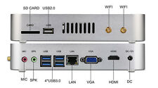 Mini Micro PC HTPC Fanless Barebone Intel Core i5 7200U 2.50Ghz HDMI VGA DHL P&P