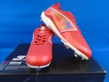Women's 3n2 Preformance DOM-N-8 Red Fast Pitch Metal Cleats Size 10