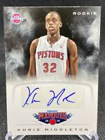 2012-13 Khris Middleton Panini Marquee Autograph Rookie Card