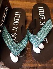 Hide N Sole blue Sandals size medium (7-8)
