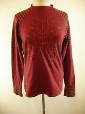 Mens S Man Save The Queen Fitted Stretch Long Sleeve Shirt Burgundy italy Tight