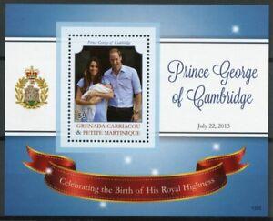 Grenadines Grenada 2013 MNH Birth Prince George Royal Baby 1v S/S William Kate