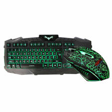 61927d4c598 Colorful Crack LED Illuminated Backlights USB Wired PC Rainbow Gaming  Keyboards