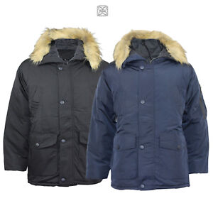 New Men's Oversized Heavy Padded Winter Jacket With Hoodie for Big and Tall