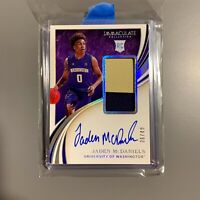 2020 Immaculate Jaden McDaniels Rookie Auto /49 ON CARD AUTO RC 2 Color RPA SSP