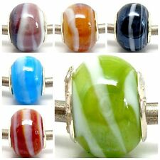 Fashion Imitation Shell Lampwork Glass Bead Fit European Charm DIY Bracelet Gift