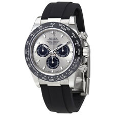 White Gold Mens Chronograph Watch Rolex Oyster Perpetual Cosmograph Daytona 18K