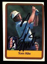 1981 DONRUSS TOM KITE SIGNED CARD RC ROOKIE AUTO #20 PGA GOLF