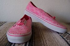 VANS Authentic (Hello Kitty) Women's Skaters Pink/White Size 8.5 NWOB!