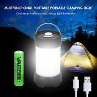 Portable COB LED Lantern Magnetic Camping Work Lamp Torch USB Rechargeable 18650