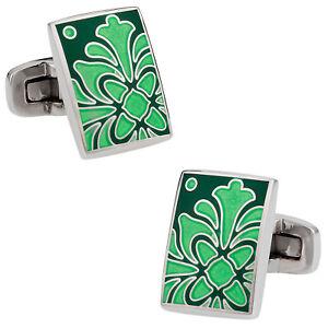 Foliage Green Cufflinks Direct from Cuff-Daddy