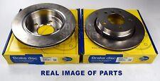 2X REAR AXLE BRAKE DISC FOR BMW 3 E46 1.6 1.8 1.9 2.0 2.2 2.5 2.8 COMLINE VENTED