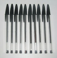 Lot x10 Crayons Stylos Bille Bic Classic Noirs NEUF