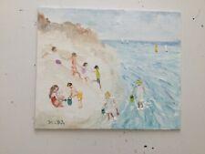 Fun on the Beach    Original  Oil Painting direct from artist john Goodlad