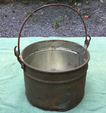 Vintage Small Tin Bucket/Berry Pail With Bail Handle