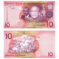 Lesotho 10 Maloti 2013 P-21b Banknotes UNC