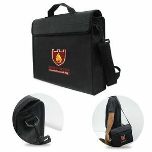 Fireproof Shoulder Carry Bag Document Cash Fire Resistant Fiberglass Waterproof