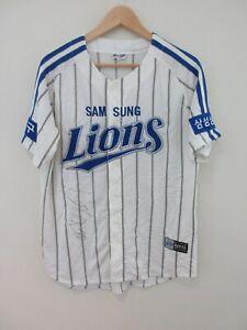 Samsung Lions Korean Pro Baseball League Team Autographed Mens Jersey Size L