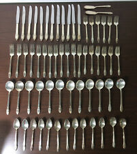 "63 PIECE 1847 ROGERS BROS ""FIRST LOVE"" SILVERPLATE FLATWARE FOR 12"