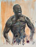 "14"" Jon Jones Scream MMA UFC Champion Original Wall Pop Art Acrylic Painting"