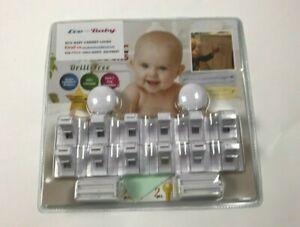 Eco Baby Cabinet Locks Drill Free 12 Pcs 2 Locks
