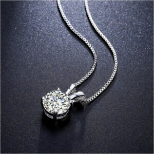 Womens Sterling Silver .925 Heart Pendant with Round Cubic Zirconia Stones Platinum Rhodium Plated Identical Appearance to Platinum or White Gold By Sterling Manufacturers CZ