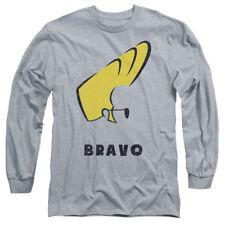 Johnny Bravo Cartoon Network Series Hair Profile Adult Long-Sleeve T-Shirt