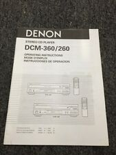 Denon DCM-360 260 CD Player Original Owners Manual 13 English Pages