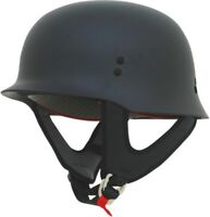 AFX FX-88 Solid Half Helmet # Black Flat Medium 0103-1066