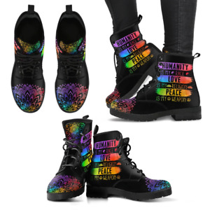 Humanity Peace Love Handcrafted Women's Vegan-Friendly Leather Boots