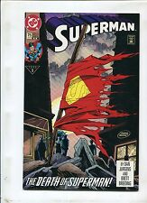 SUPERMAN #75 - DIRECT - 2ND PRINT RARE DOOMSDAY! (9.0)