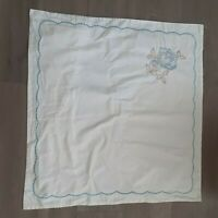 Euro white scalloped embroidered sham 26X26 floral cotton