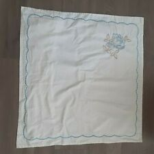 Euro white scalloped embroidered sham 26X26 floral cotton