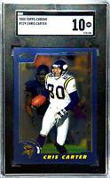 2000 Topps Chrome Chris Carter #129 SGC 10 Gem Mint Minnesota Vikings