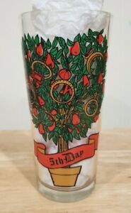 Vintage Pepsi 12 Days of Christmas Glass 5th Day Replacement