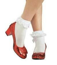 Dorothy Adult Ruby Slippers Costume Shoes Size Large 9-10
