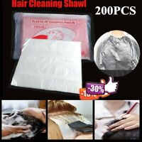 200pcs Disposable Hair Cutting Capes Hairdressing Home Barber Apron Dyeing