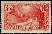 """ANDORRE FRANCAIS N° 34 """" PONT DE SAINT-ANTOINE , A LA MASSANA 45 C."""" NEUF xx TTB"""
