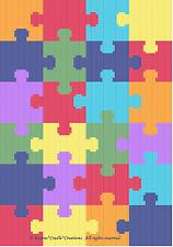 Crochet Patterns - Jigsaw Puzzle Pattern Scrap Yarn