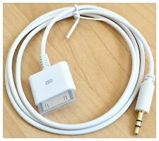 Car AUX 3.5mm Male to 30p male for iPod iPhone 4 4gs iPad 1 Dock Adapter Cable