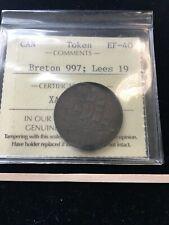 Canada Token PE-10-19 / Breton 997, Lees 19, ICCS Graded**EF-40**