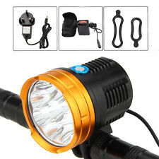 20000Lm 9x CREE XM-L R8 LED Head Front Bicycle Bike Light Headlamp+12000mAh+AC