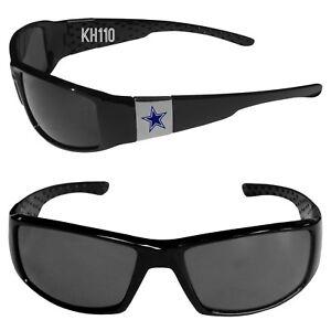 Dallas Cowboys NFL Chrome Black Football Sports Sun Glasses-New