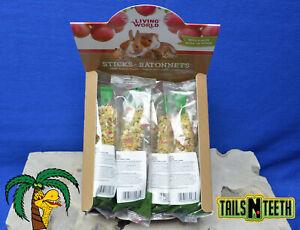 !!12 LOT!! Living World Small Animal Sticks - Apple Flavour - 12x45 g (1.5 oz)