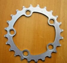 Chainring Chainwheel 74 mm bcd x 24 tooth - Silver 5-6-7-8 and 9 Speed Omas