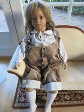 """Annette Himstedt Künstlerpuppe """"Bastian"""", original Puppe und Kleidung,Rechnung"""